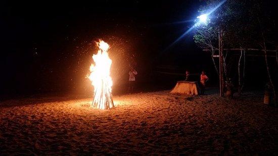 Cibal, Indonesia: Full moon bonfire