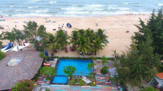La Gi, Vietnam: Aeriel View of the Beachcamp and sea