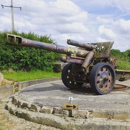 Batterie de Maisy : One of our Howitzers
