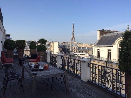 Terrasse De La Suite Photo De Hotel Marignan Champs
