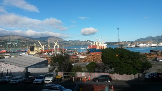 Lyttelton, New Zealand: View from outside deck