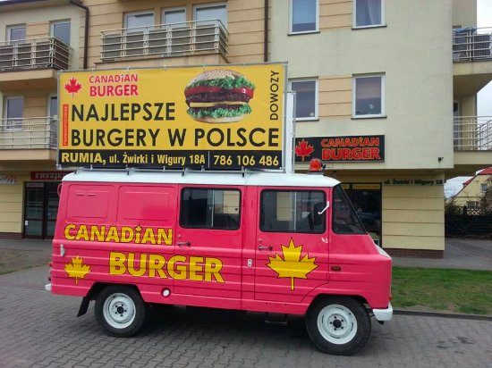 Rumia, Polonia: Outside Canadian Burger :-)