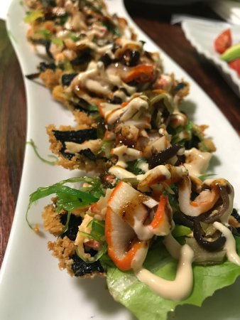Palm Bay, FL: Chef Ken-san's special creation-Tenpura Nori with Squid