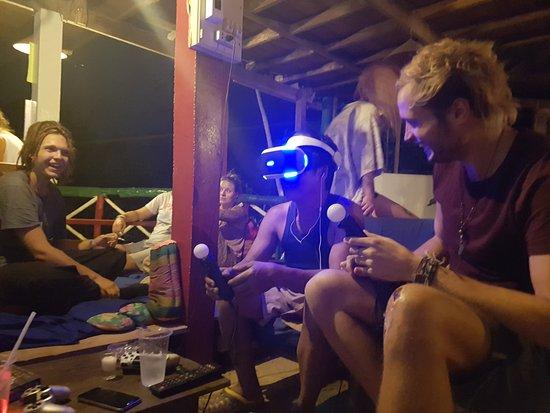 Easy Go Backpacker Hostel: Enjoying the PSVR