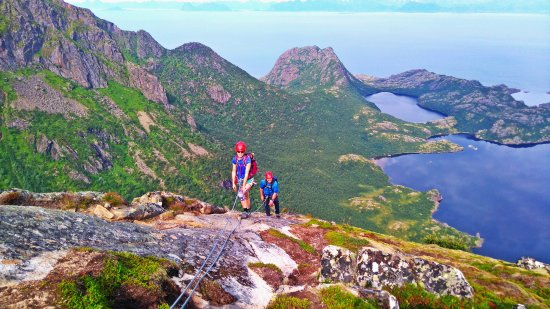 From the top you can see all the way to Lofoten, Fjords and the fairytale landscape of Hamaroy.