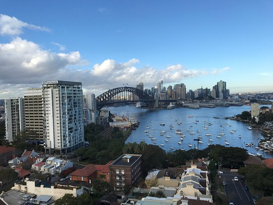 North Sydney, Australia: Great view to wake up to...