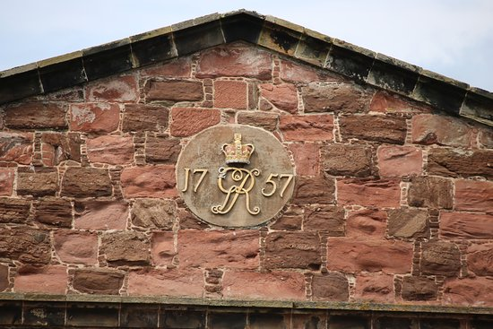 Ardersier, UK: Date plate on many of the buildings