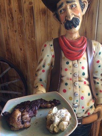 Хэтч, Юта: Great skinny margarita and awesome Ribeye