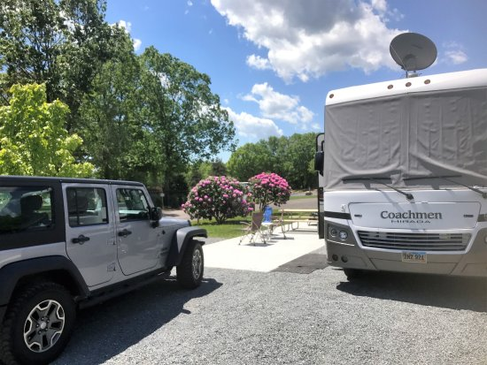 Normandy Farms Family Camping Resort: Our campsite