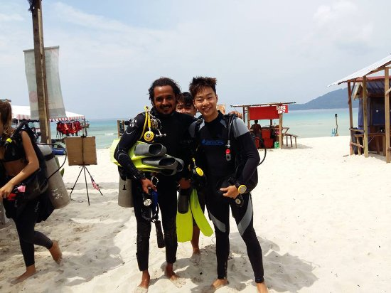 Angel Divers: My Dive Instructor from Brazil.
