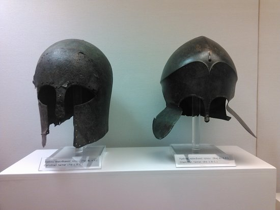 Archaeological Museum of Piraeus: Ancient helmets