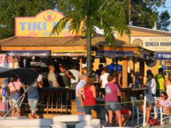 Tiki Bar North - a veiw from the boats