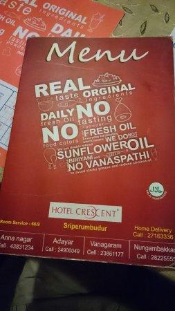 Sriperumbudur, India: Hotel Crescent Crest Restaurant