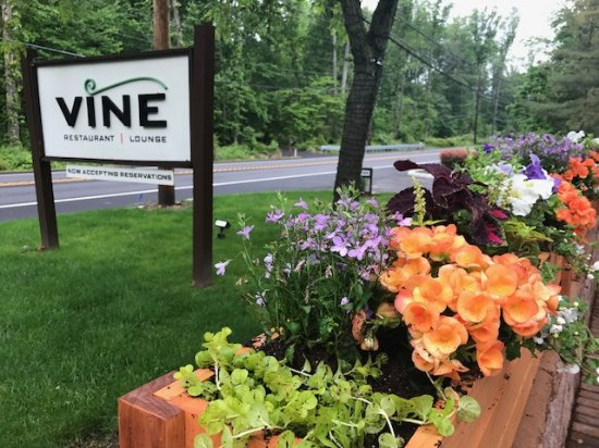 Basking Ridge, NJ: outdoor dining on VINE's patio
