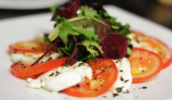 Viry-Chatillon, Frankrig: Entrée: Tomates Mozzarella di Bufala au basilic