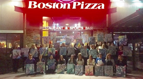 Paint Night at Boston Pizza in Orillia!
