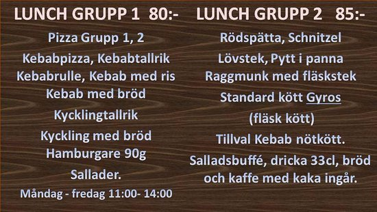 Pizzeria Milano: Lunch paket  Måndag- Fredag 11:00- 12:00