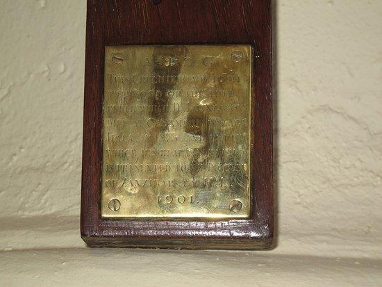 Zanzibar Archipelago, Tanzania: plaque on cross