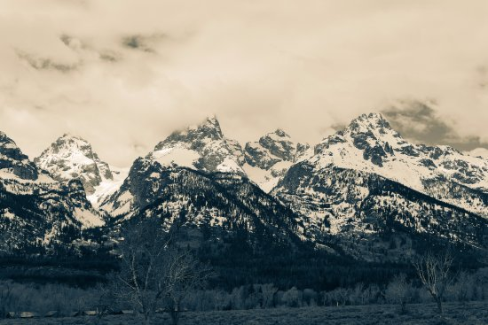 View of Tetons from near Jenny Lake visitor center