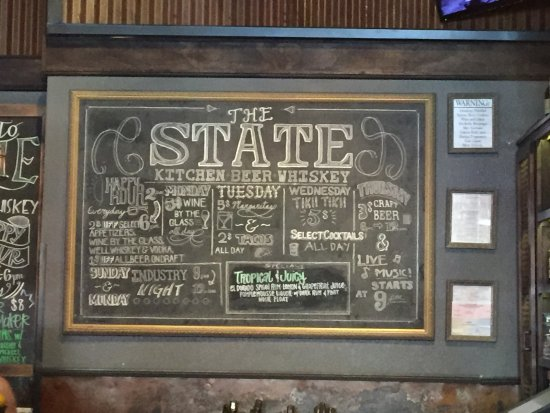 Redlands, CA: The State Specials board (June 2017)