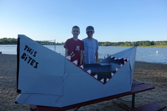 Volo, IL: Cardboard boat race on the lake :)