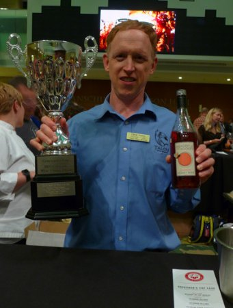 Palisade, Kolorado: Our Strawberry Honey Wine won the Governor's Cup for Best-in-Show! Glenn Foster, owner and found