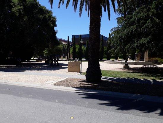 Palo Alto, Californië: Outside view in Stanford University