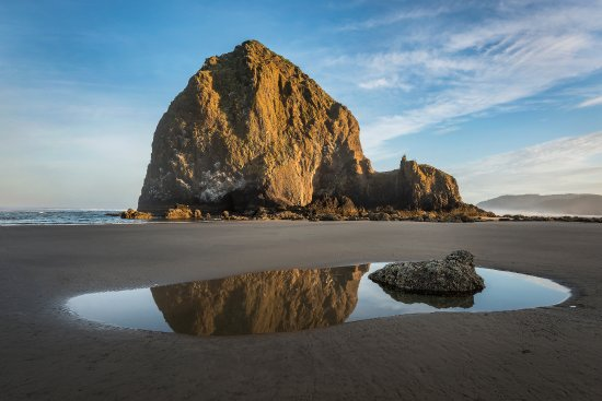 Haystack Rock at Sunrise near the Stephanie Inn