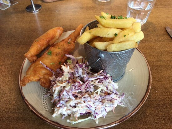 Kingston, New Zealand: fish and chips