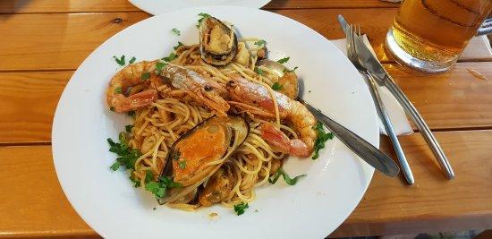 Spaghetti mit Meeresfrüchten... außerordentlich lecker und sehr empfehlenswert!!