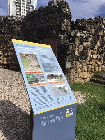 Museo Panama Viejo: One of the building ruins outside the museum.