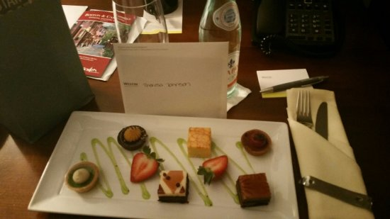 The Westin Boston Waterfront: My welcome sweets.