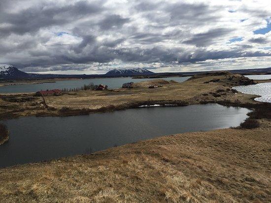 This was an amazing place on the lake Myvatn, Skútustaðahreppur