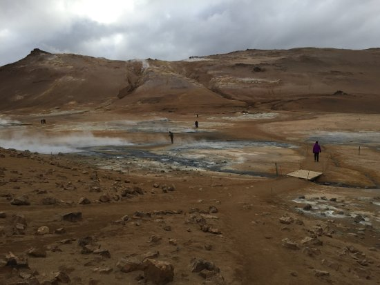 Myvatn: Place with rising smoke from the Gorges