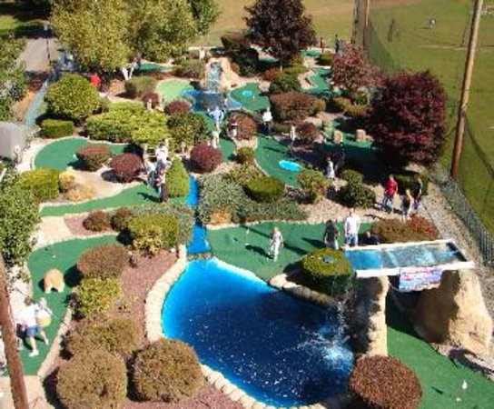 Lunenburg, MA: Aerial view of miniature golf