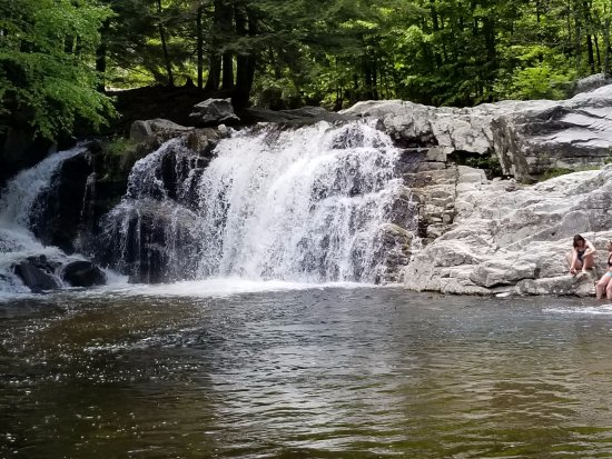 Ludlow, VT: One of the falls with some bathers.