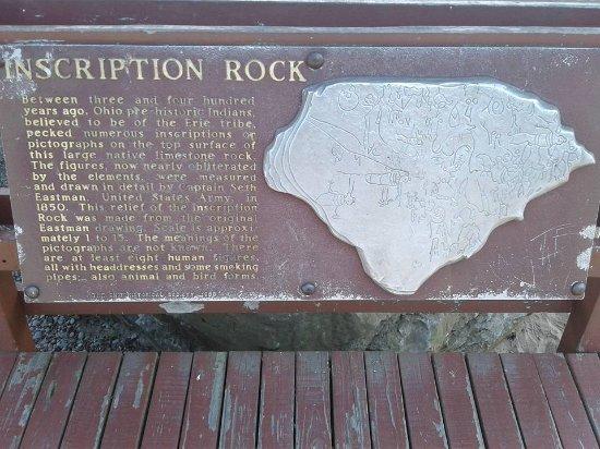 Kelleys Island, OH: Placard for Inscription Rock