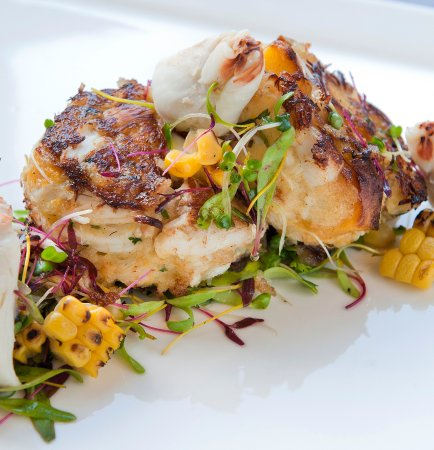 Seasonal Crab Cakes and Fresh Seafood Selections at Gallery Restaurant