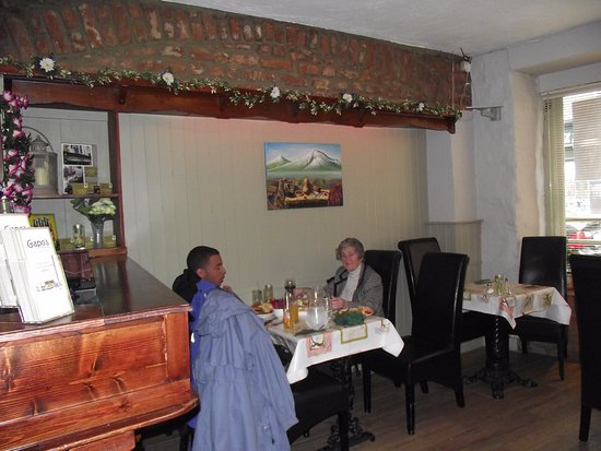 Listowel, Ιρλανδία: 4 tables to the front of the restaurant all for 4 persons(Great Grandson and our friend