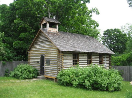 Log Cabin Style Church Building Picture Of Old Mission