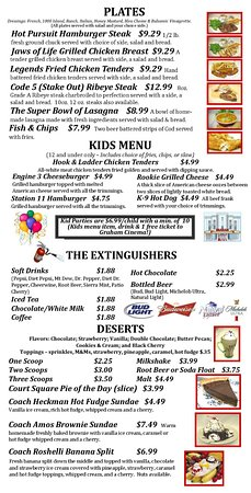 Graham, NC: Page 4 of the Menu