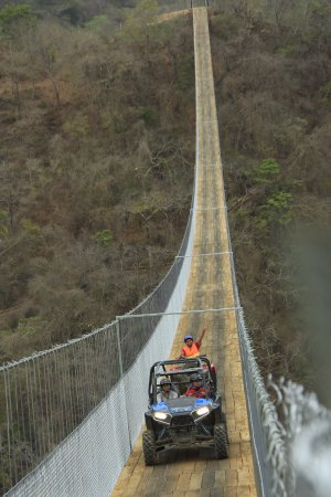 Jorullo Bridge in Canopy River during our RZR tour & Jorullo Bridge in Canopy River during our RZR tour - Picture of ...