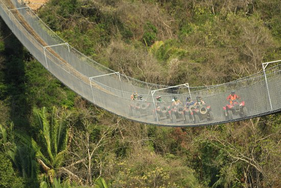 Canopy River : The longest suspension bridge in the world at Puerto vallarta