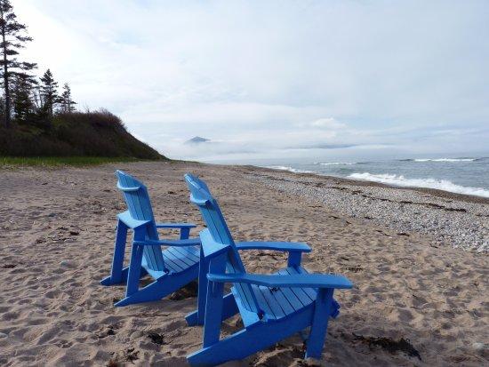 Dingwall, Canada: Muskoka Chairs on the beach