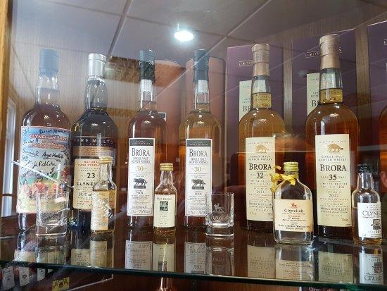 Some bottles of Brora Whisky