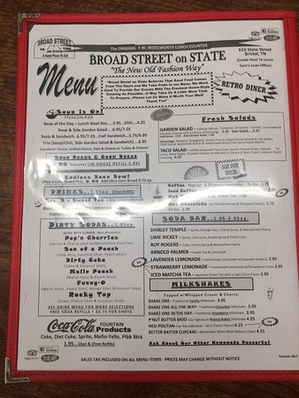 Menu: Try a Dirty Soda - Picture of Broad Street on State