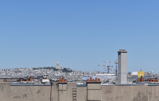 Hotel le Senat: view of Sacre Couer from deck