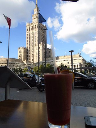 Hard Rock Cafe Warsaw: The view from Hard Rock's terrace.