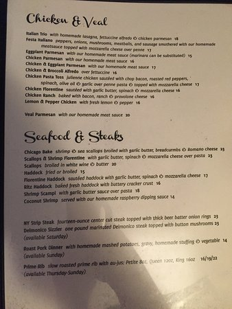 Brewerton, NY: New menu