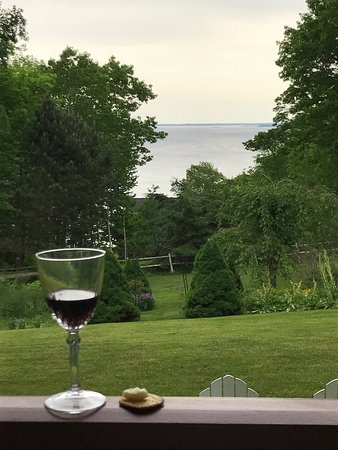 Lincolnville, ME: View of ocean from the back porch